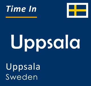 Current time in Uppsala, Uppsala, Sweden