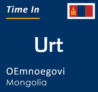 Current time in Urt, OEmnoegovi, Mongolia