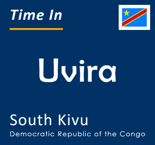 Current time in Uvira, South Kivu, Democratic Republic of the Congo
