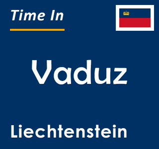 Current time in Vaduz, Liechtenstein