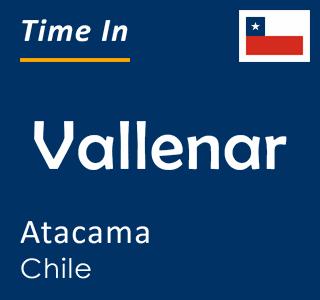 Current time in Vallenar, Atacama, Chile