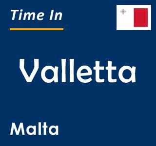 Current time in Valletta, Malta