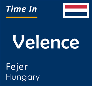 Current time in Velence, Fejer, Hungary