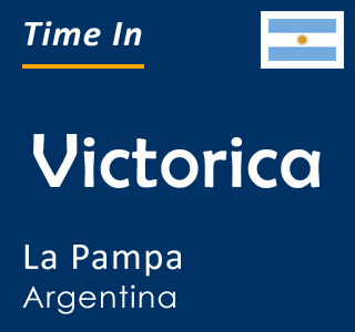 Current time in Victorica, La Pampa, Argentina