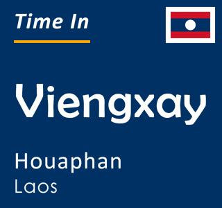 Current time in Viengxay, Houaphan, Laos