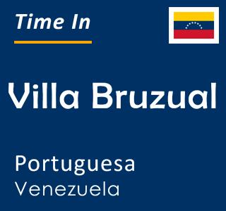 Current time in Villa Bruzual, Portuguesa, Venezuela