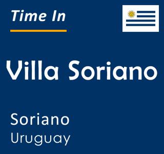 Current time in Villa Soriano, Soriano, Uruguay