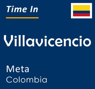 Current time in Villavicencio, Meta, Colombia