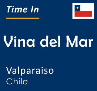 Current time in Vina del Mar, Valparaiso, Chile