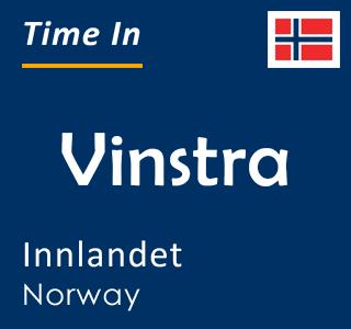 Current time in Vinstra, Innlandet, Norway