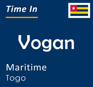 Current time in Vogan, Maritime, Togo