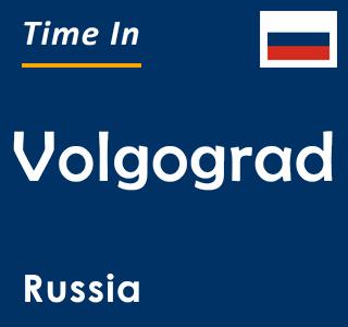 Current time in Volgograd, Russia