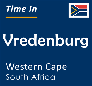 Current time in Vredenburg, Western Cape, South Africa