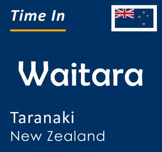 Current time in Waitara, Taranaki, New Zealand