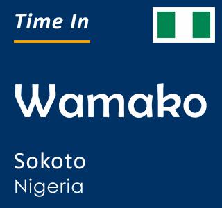 Current time in Wamako, Sokoto, Nigeria