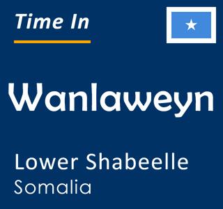 Current time in Wanlaweyn, Lower Shabeelle, Somalia
