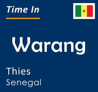 Current time in Warang, Thies, Senegal