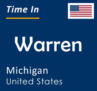 Current time in Warren, Michigan, United States