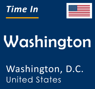 Current time in Washington, Washington, D.C., United States