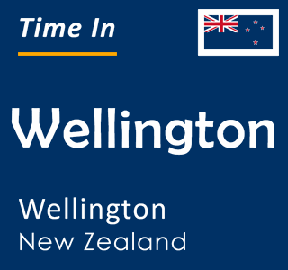 Current time in Wellington, Wellington, New Zealand