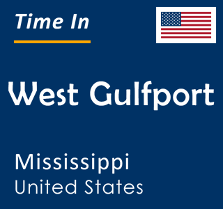 Current time in West Gulfport, Mississippi, United States