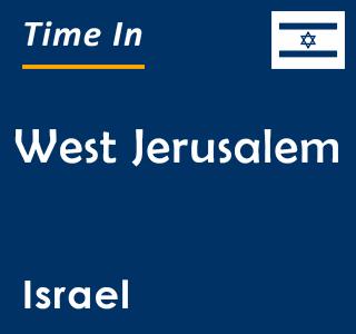 Current time in West Jerusalem, Israel