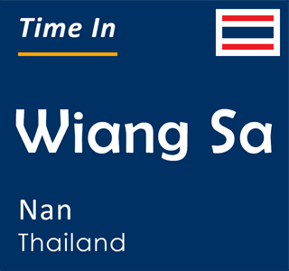 Current time in Wiang Sa, Nan, Thailand