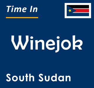 Current time in Winejok, South Sudan