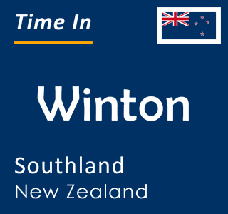 Current time in Winton, Southland, New Zealand