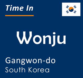 Current time in Wonju, Gangwon-do, South Korea