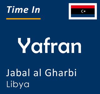 Current time in Yafran, Jabal al Gharbi, Libya