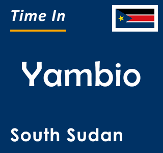 Current time in Yambio, South Sudan
