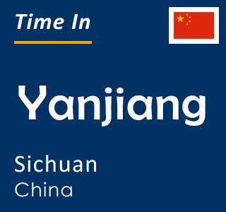 Current time in Yanjiang, Sichuan, China
