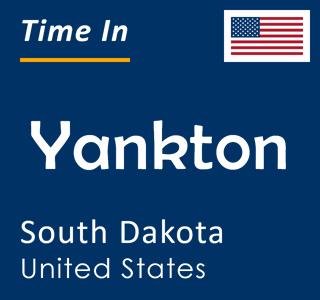 Current time in Yankton, South Dakota, United States