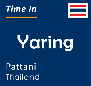 Current time in Yaring, Pattani, Thailand