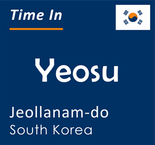 Current time in Yeosu, Jeollanam-do, South Korea