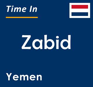 Current time in Zabid, Yemen