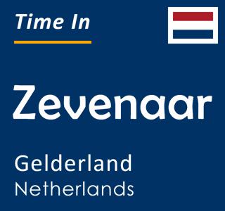 Current time in Zevenaar, Gelderland, Netherlands
