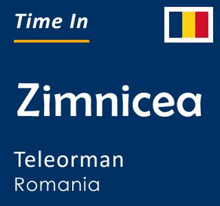 Current time in Zimnicea, Teleorman, Romania