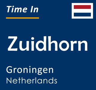 Current time in Zuidhorn, Groningen, Netherlands