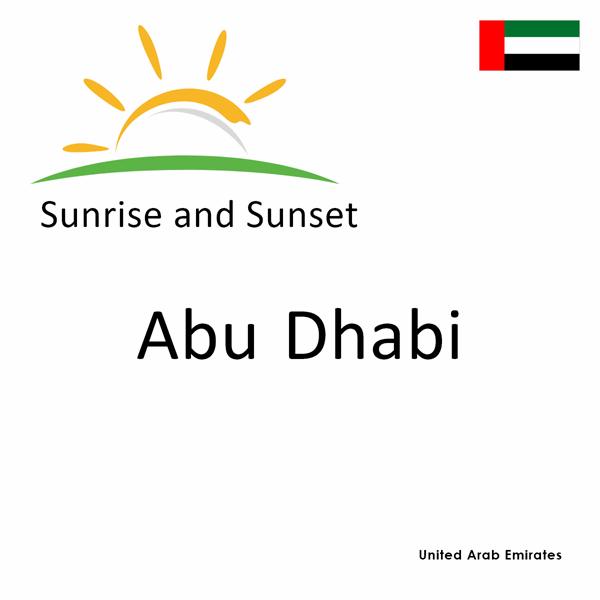 Sunrise and sunset times for Abu Dhabi, United Arab Emirates