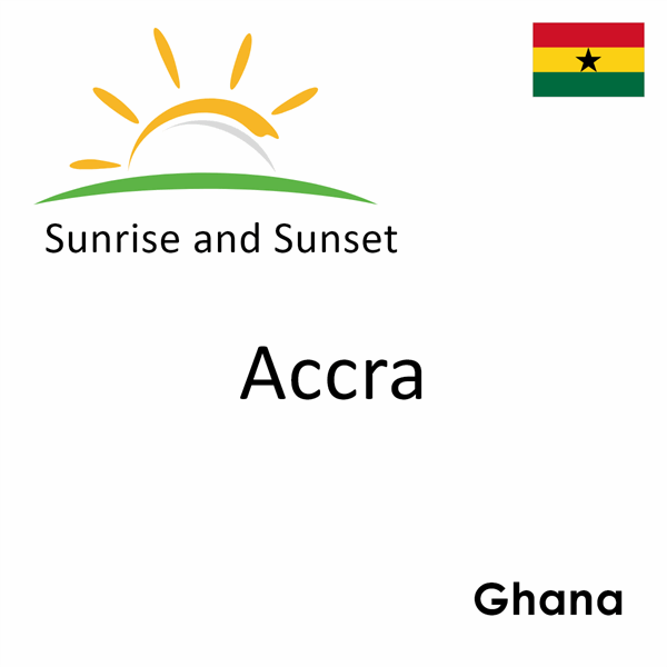 Sunrise and sunset times for Accra, Ghana