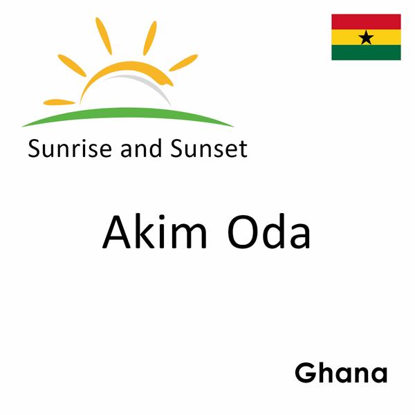Sunrise and sunset times for Akim Oda, Ghana