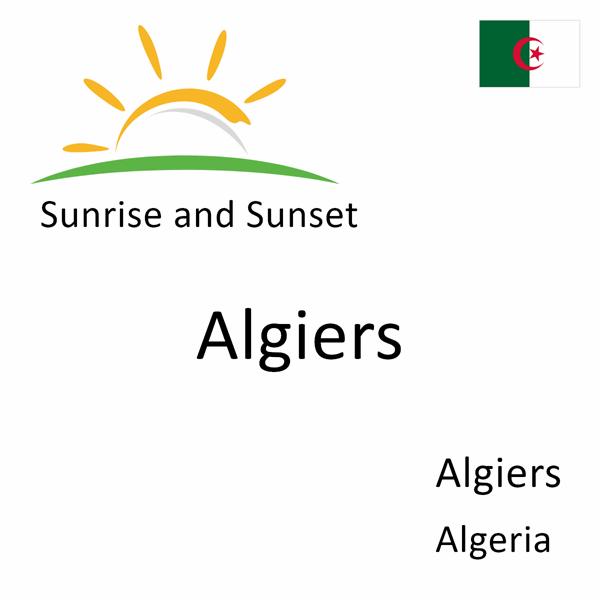 Sunrise and sunset times for Algiers, Algiers, Algeria