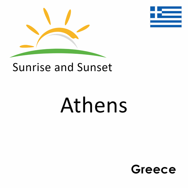 Sunrise and sunset times for Athens, Greece