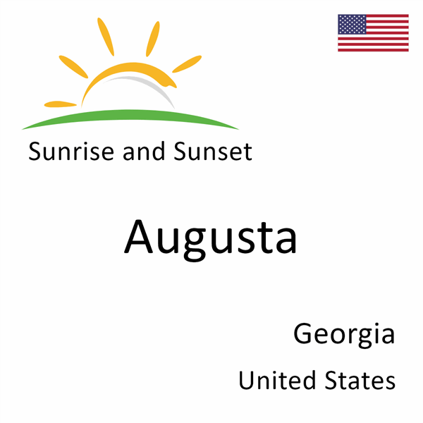 Sunrise and sunset times for Augusta, Georgia, United States