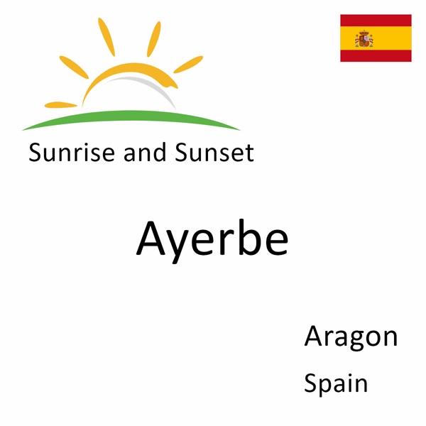Sunrise and sunset times for Ayerbe, Aragon, Spain