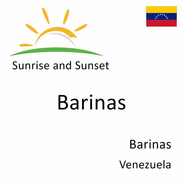 Sunrise and sunset times for Barinas, Barinas, Venezuela