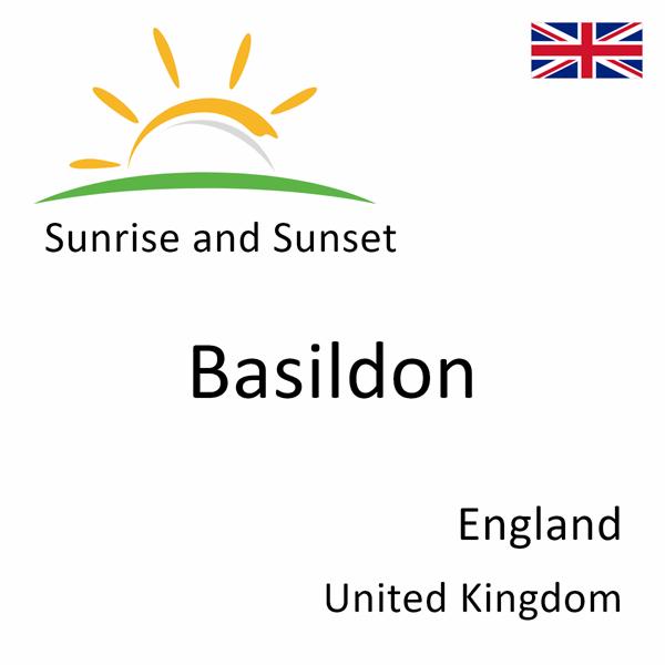 Sunrise and sunset times for Basildon, England, United Kingdom
