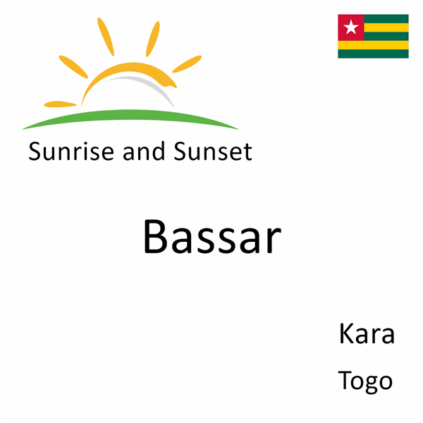 Sunrise and sunset times for Bassar, Kara, Togo
